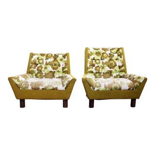 1960s Mid-Century Modern Pearsall Craft Associates Style Lounge Chairs - a Pair For Sale