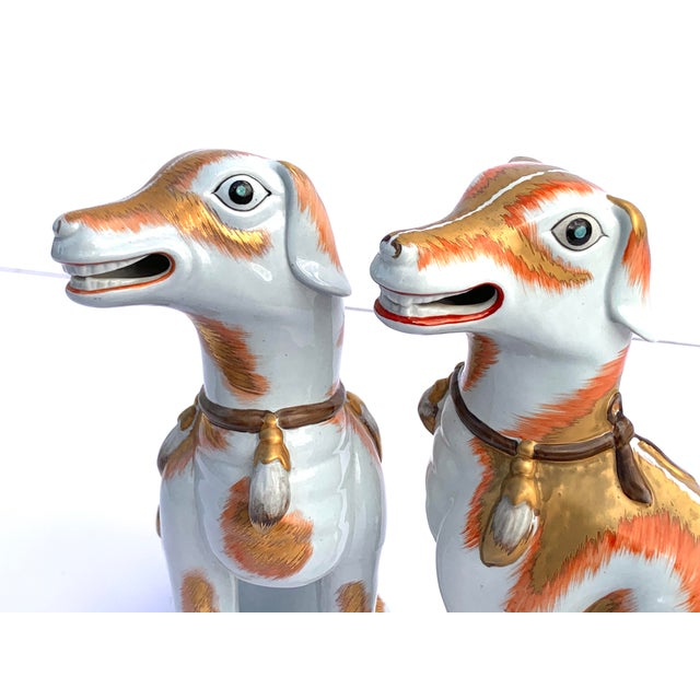 Ceramic Paul Hanson Italy, Chinoiserie Dogs - a Pair For Sale - Image 7 of 8
