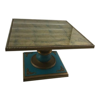 Gold & Turquoise Side Table For Sale