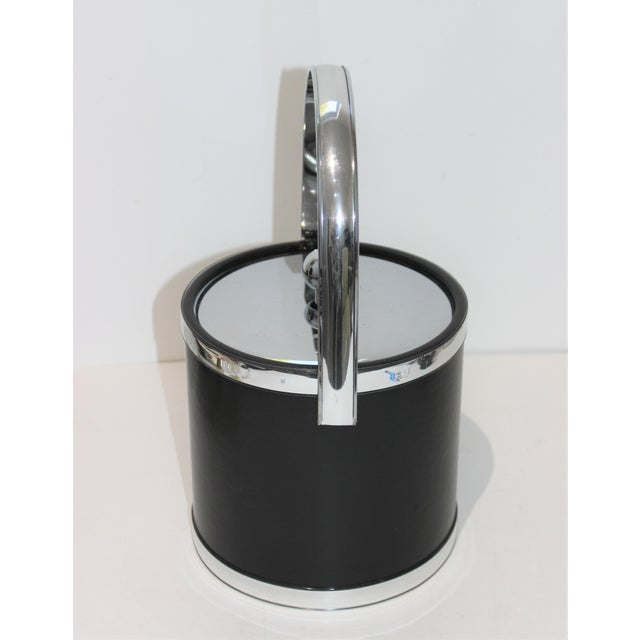 1990s Vintage Kraftware Ice Bucket in Faux Leather For Sale - Image 5 of 13