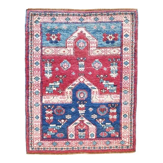 Vintage Central Anatolian 'Konya' Wool Turkish Area Rug-3'2'' X 4'0'' For Sale