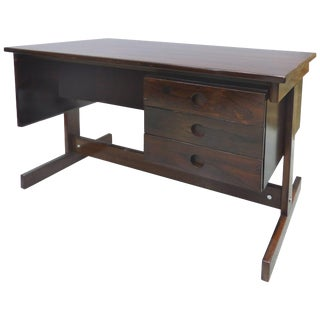 Jacaranda Desk Attributed to Sergio Rodrigues, Brazil, 1950s For Sale