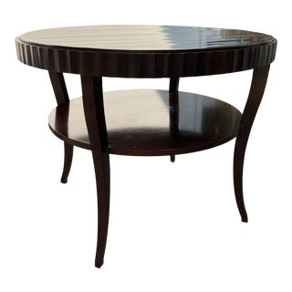 Barbara Barry Fluted Edge Round Table For Sale