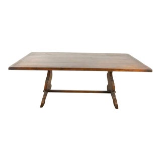 Vintage Carved Oak Dining Table