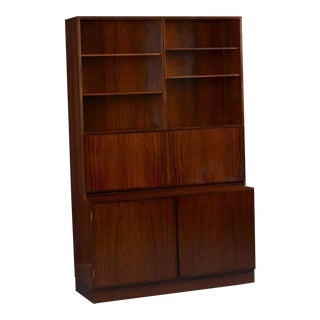 Omann Jun Danish Rosewood Wall Unit and Desk For Sale