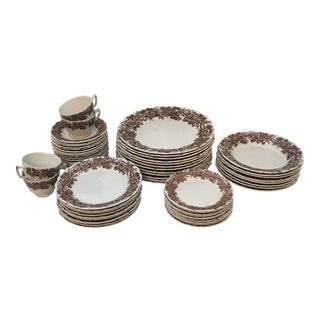 Booths English Vine & Wheat Dinnerware - Set of 60 For Sale