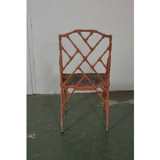 1950s Vintage Faux-Bamboo Metal Arm Chairs- Set of 4 Preview