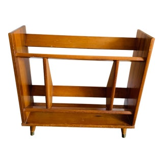 Mid Century Danish Modern Style Wooden Bookcase For Sale