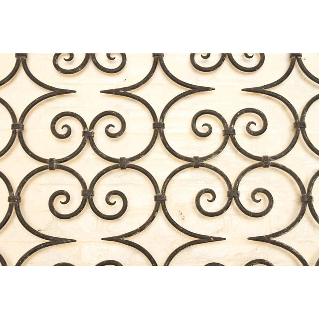 Antique Large Wrought Iron Architectural Panel Divider circa 1940, PA. unusual ironwork fo r room divider or garden...