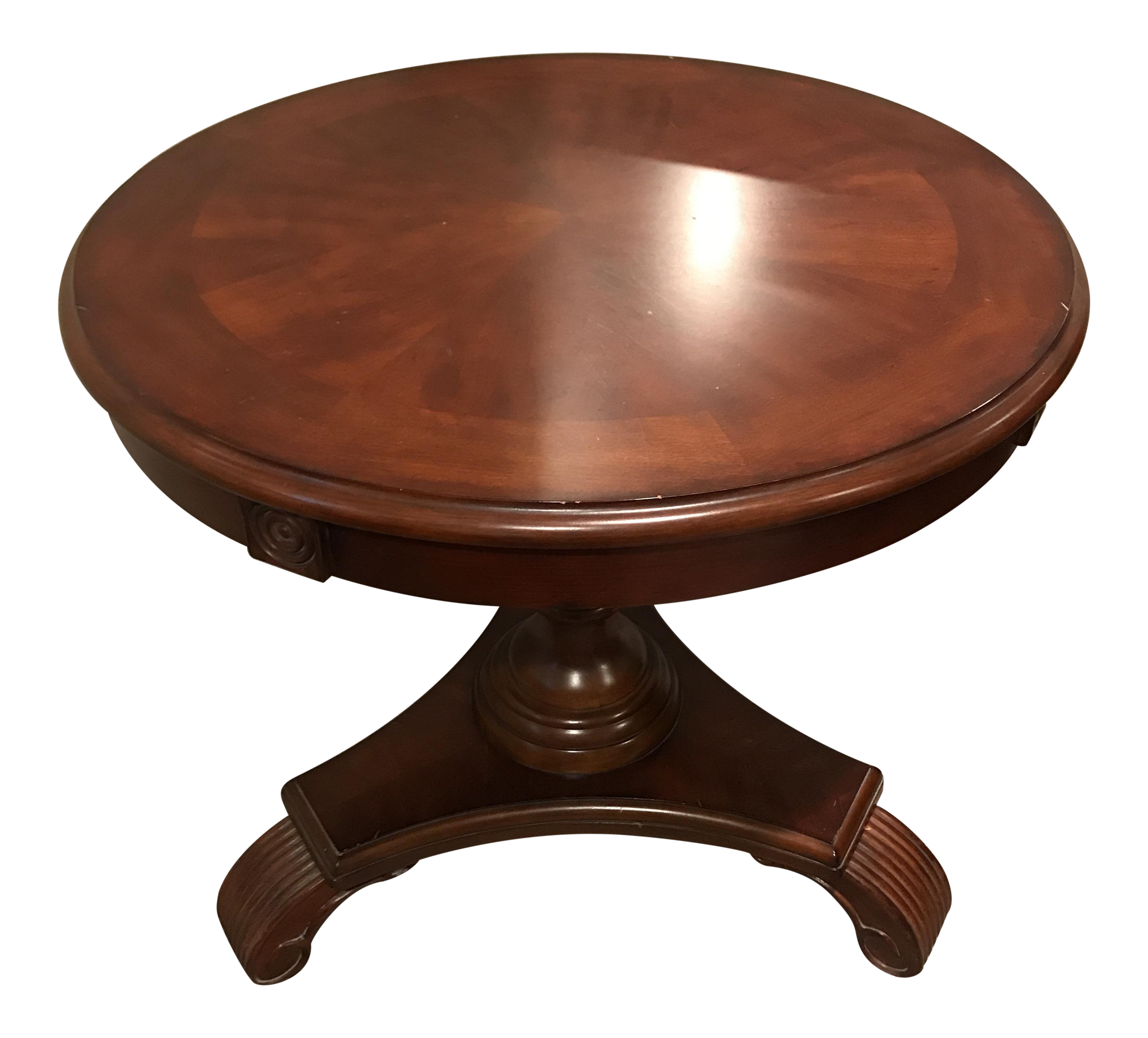 Captivating Ethan Allen Round Side Table