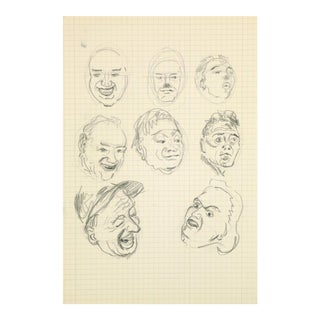 Drawing of Faces, C. 1960