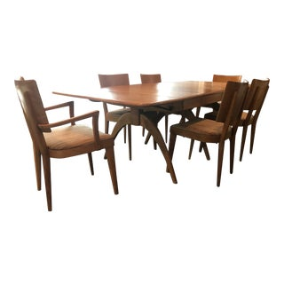 Heywood Wakefield Dining Table & Chairs For Sale