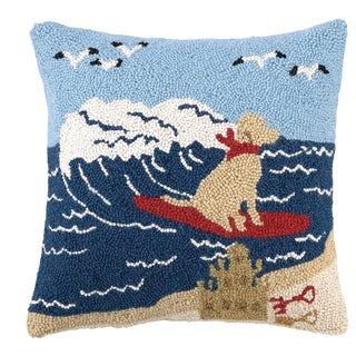 """Surfing Lab Hook Pillow, 16"""" x 16"""" For Sale"""