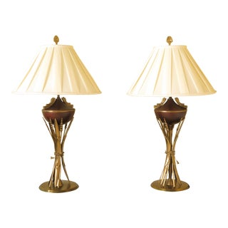 House of hackney peoneden coolie lamp shade chairish chelsea house regency style lamps with shades a pair aloadofball Image collections