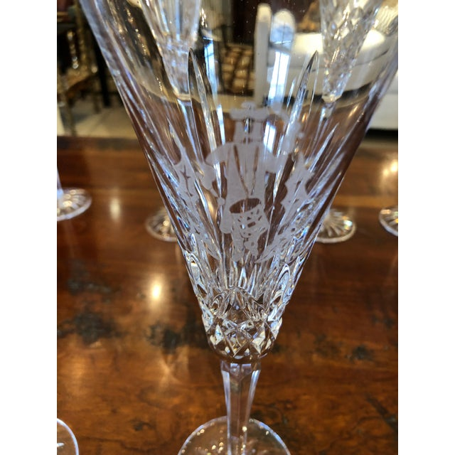 Waterford Crystal 12 Days of Christmas Champagne Flutes- 12 Pieces For Sale - Image 9 of 12