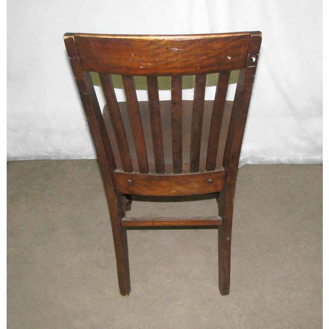Slatted back office chair with turned legs. Priced each. Listing is for a single unit but 2 are available. Please contact...
