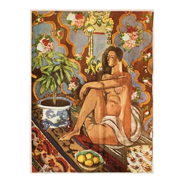 "1940s Henri Matisse, ""Decorative Figure"" Original Period Swiss Lithograph For Sale"