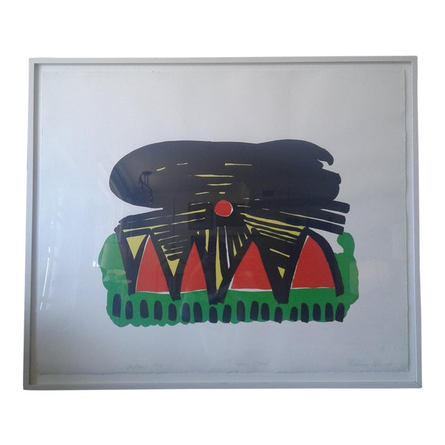 """""""Going Down"""" Lithograph by Philomene Bennett For Sale"""