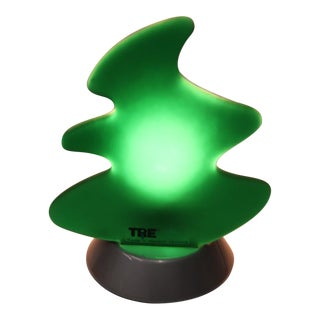 1990s Modern Itre Table Lamp Green Glass For Sale