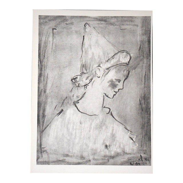 Vintage Mid 20th C. Ltd. Ed. Lithograph-Marcel Vertes C.1961 For Sale
