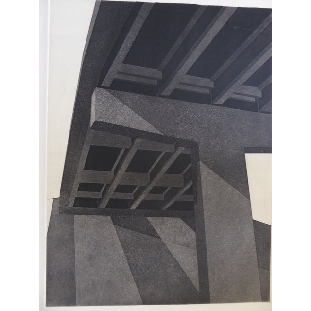 "Original Modern Industrial Graphic Silkscreen, ""Underpass #1"" - Image 3 of 5"