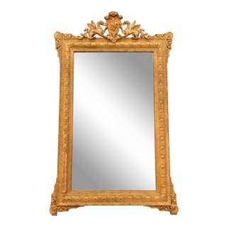 Early 20th Century French Regency Gilt Wood Wall Mirror