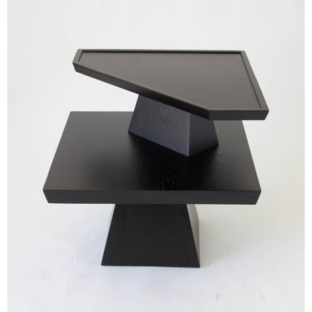 Brutalist Two-Tiered End Table - Image 7 of 11