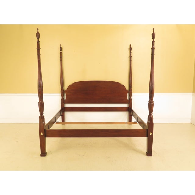 Drexel Heritage King Size Mahogany Poster Bed For Sale - Image 11 of 11