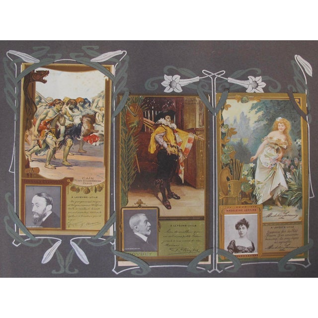 Complete Album Vintage French Biscuits Lu Postcards, 1905 - Image 4 of 5