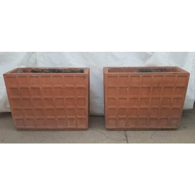 Terracotta Italian Rectangular Planters - a Pair For Sale In Los Angeles - Image 6 of 6
