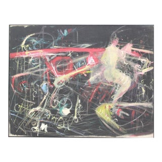 Ronnie Setter (Israeli, 1946 -) Vintage Mid Century Modern Abstract Expressionist Painting For Sale