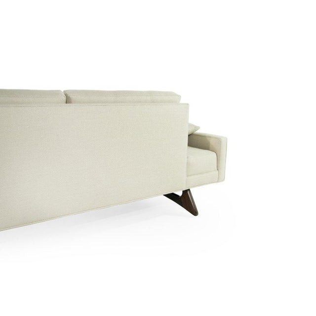 White Adrian Pearsall for Craft Associates Model 2408 Sofa For Sale - Image 8 of 12