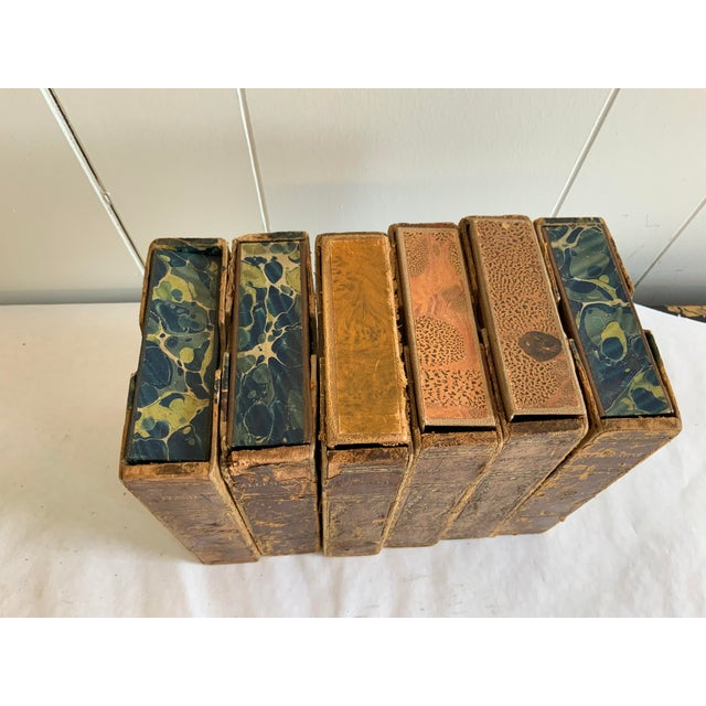 Antique Italian Faux Book Boxes For Sale - Image 4 of 8