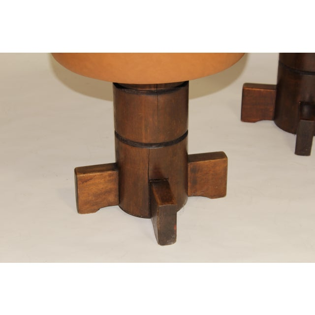 1950s Vintage Mahogany Stools For Sale - Image 5 of 7