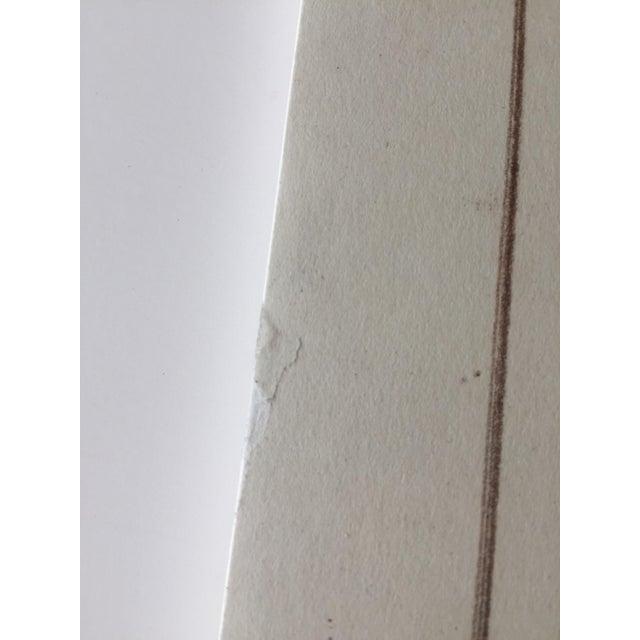 Mid-Century Golden Gate Bridge Architectural Sketch - Image 8 of 9