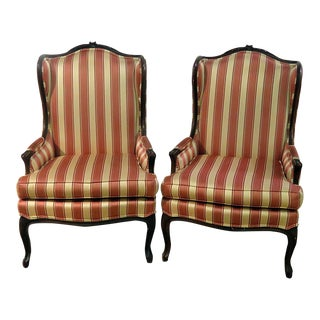 Louis XV Style Wingback Chairs - a Pair For Sale