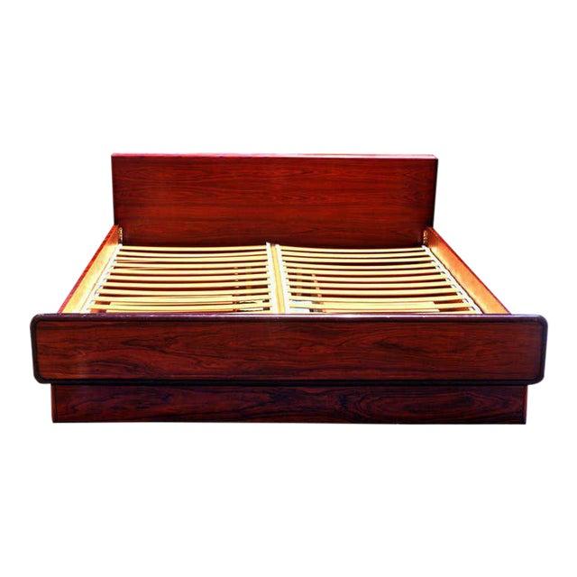 Brouer Mid-Century Modern/Danish Modern King Rosewood Platform Bed - Image 1 of 4