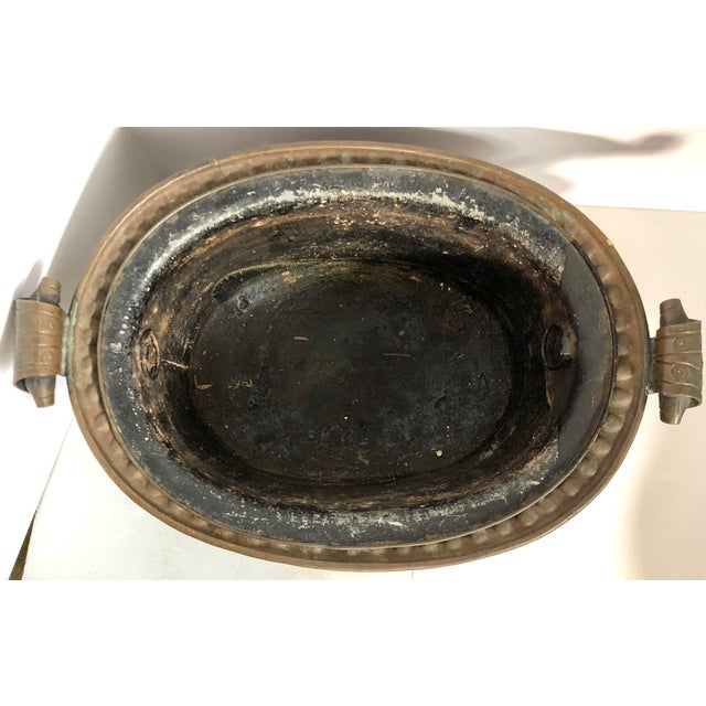 Copper Jardiniere With Liner For Sale - Image 4 of 10