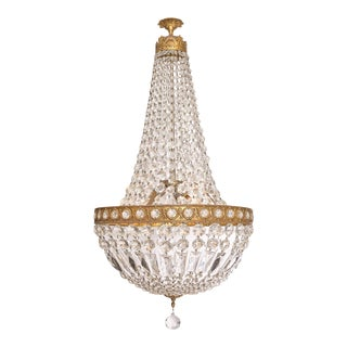 Crystal Empire Style Vintage Chandelier For Sale