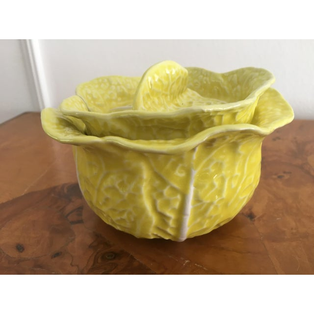 1970s Vintage Secla Yellow Cabbage Bowls- Set of 3 For Sale - Image 5 of 12