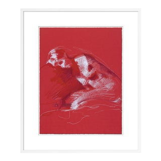 Figure 14 by David Orrin Smith in White Frame, Medium Art Print For Sale