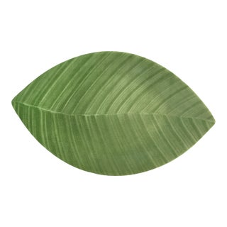 Villeroy & Boch Green Banana Leaf Serving Tray For Sale