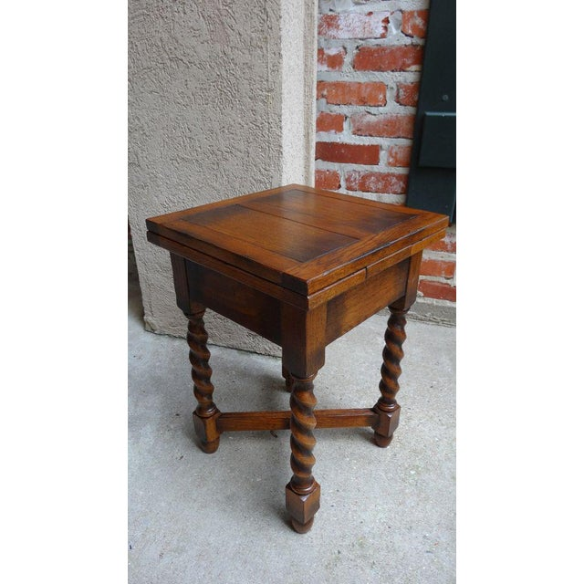 Vintage Mid-Century English Draw Leaf Tea Table For Sale - Image 11 of 11