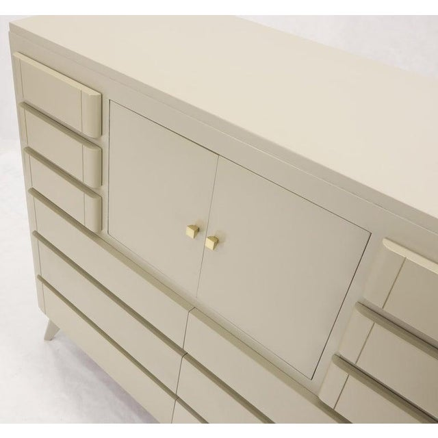 Multiple 12 Drawers Two Door Compartment Cube Shape High Wide Chest Dresser For Sale - Image 12 of 13