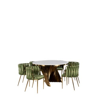 Waterfall Dining Furniture-Set of 7 For Sale