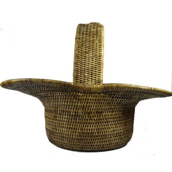 Burmese Hand Woven Hat Basket - Image 6 of 10