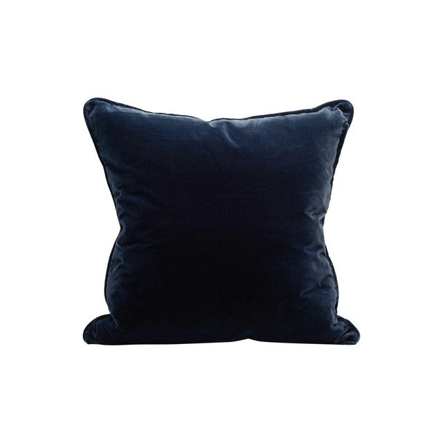 Traditional Tiberius Pillow, Ocean For Sale - Image 3 of 3