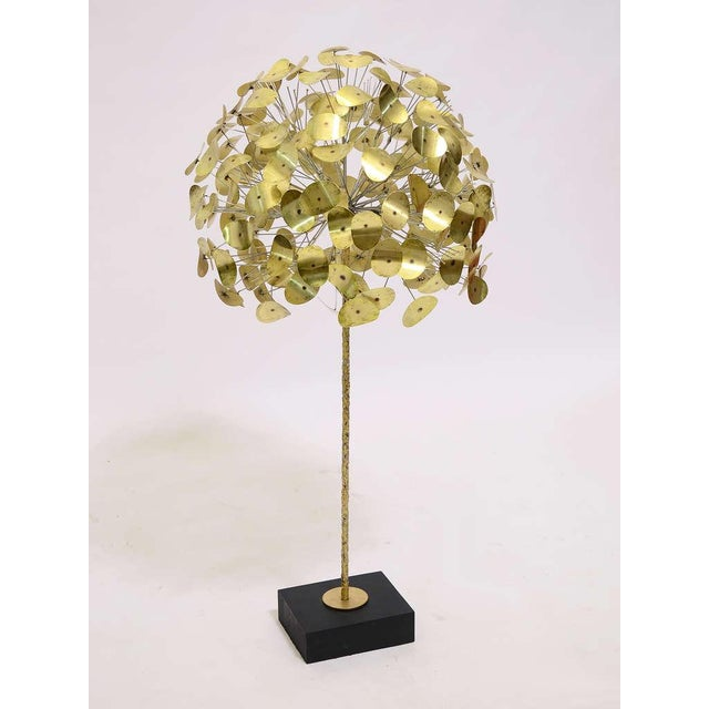 Brutalist Oversize Dandelion Sculpture In Brass By Jere For Sale - Image 3 of 9