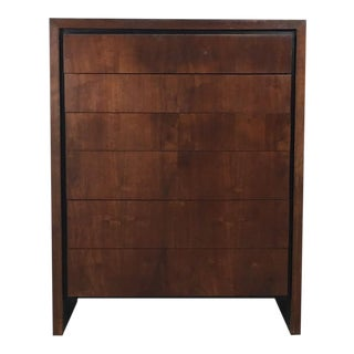 Walnut Highboy Six Drawer Dresser by Milo Baughman for Dillingham