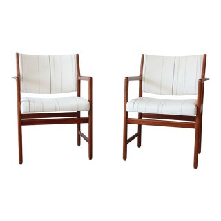 Swedish Modern Solid Teak Arm Chairs by Karl Erik Ekselius for J.O. Carlsson - a Pair For Sale